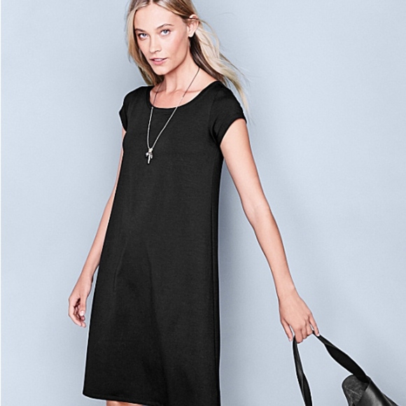 fb9e9a765f Eileen Fisher Dresses   Skirts - Eileen Fisher Ballet-Neck Cotton T-Shirt  Dress